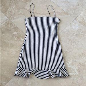 Stripped mini dress